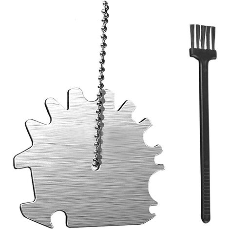 """main image of """"Stainless Steel BBQ Grill Scraper Barbecue Grill Grate Cleaner Grill Brush BBQ Cleaning Tools Non-bristles Safer,model:Silver"""""""