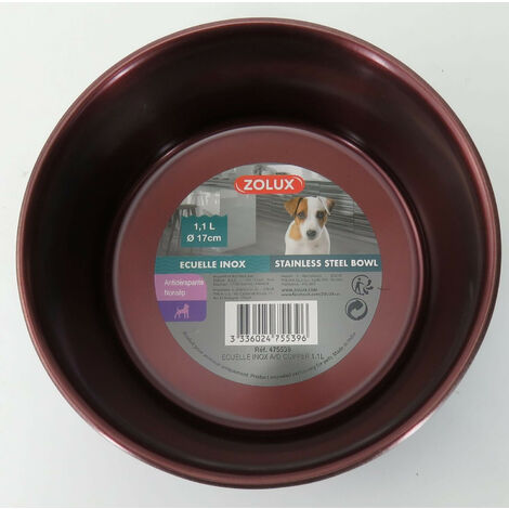 Stainless steel bowl 1.1l ø 17 cm for dogs