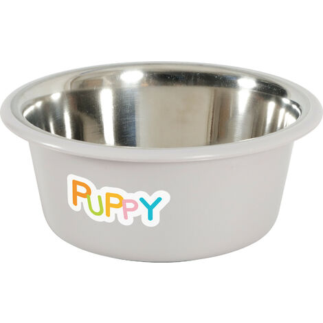 Stainless steel bowl PUPPY. ø 16.5 cm . color Taupe