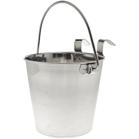 Stainless steel bowl with bucket-shaped support for dogs and cats Ferribiella