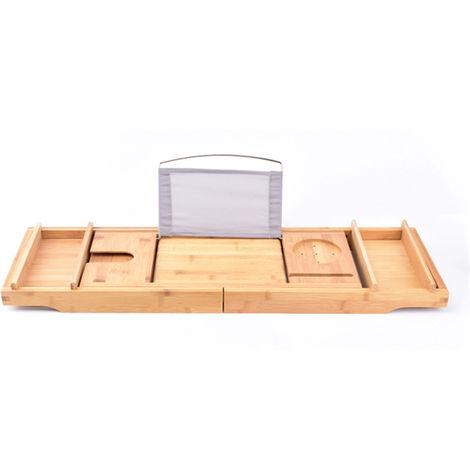 Stainless steel bracket non-slip bathtub stand brown