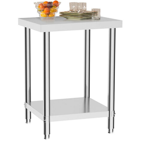 Stainless Steel Catering Table Commercial Restaurant Food Pre Work Bench Worktop