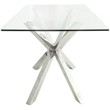 Stainless Steel Chrome Glass S Top Endtable - 2 Parts - Big Living