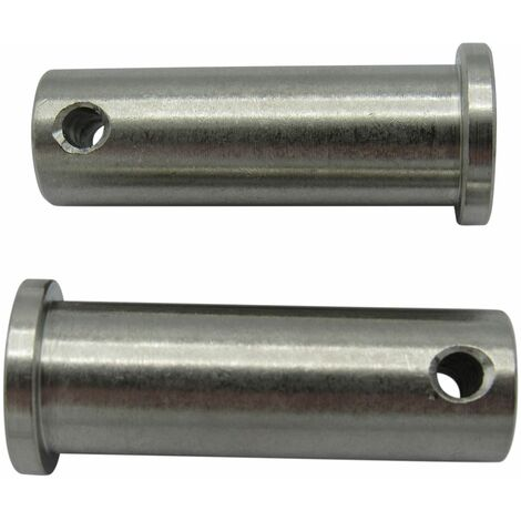 """main image of """"Stainless Steel Clevis Pins 12MM x 45MM with Hole x2 (Flat Head Retaining Fastener)"""""""