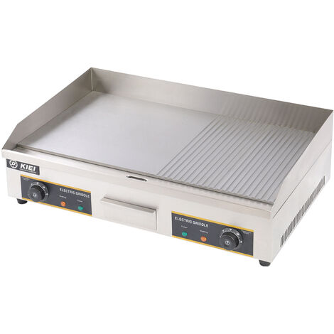 Stainless Steel Commercial Electric Griddle Hotplate Flat BBQ Grill Countertop