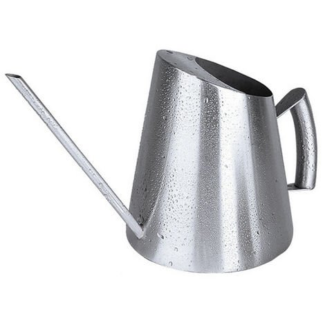 Stainless Steel Cone Watering Can Plants Long Spout Spherical