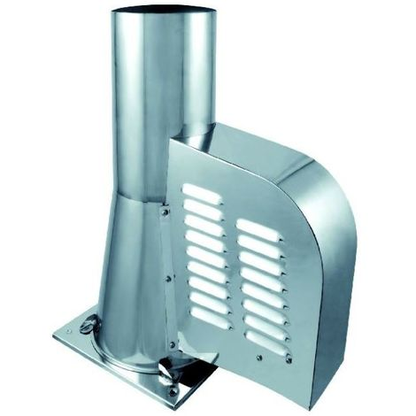 Stainless steel draught generator rotowent square base 150mm