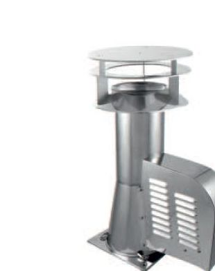Stainless Steel Draught Generator Rotowent Square Base 150mm + Additional Hood