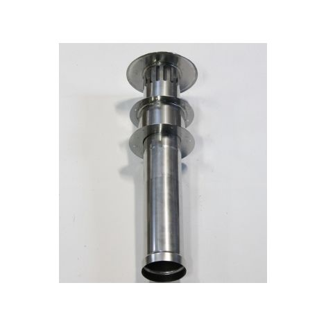 Stainless steel evacuation set with roof gland 130 mm connection fits the Cointra Optima COB-14p THEFLU006