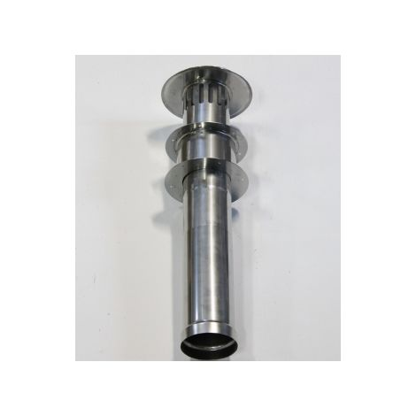 Stainless steel evacuation set with roof gland 80/100 mm connection fits the Cointra COB-5 THEFLU001