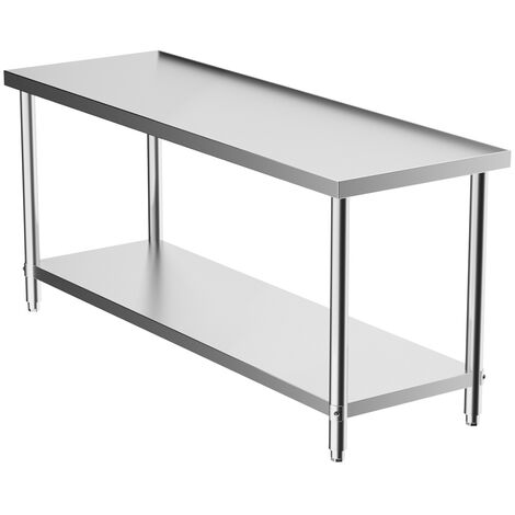 Stainless Steel Garage Work Bench Workbench Table Wall Floating Shelf Rack Stand