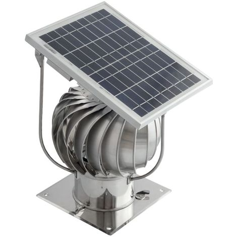 Stainless Steel Hybrid Chimney Exhaust Assisting Cowl with Solar Panel 150mm Standard Version