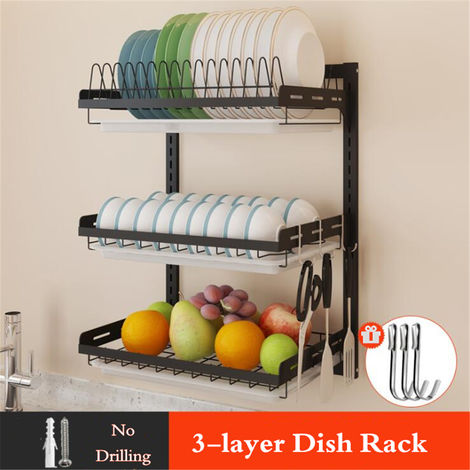 Stainless Steel Kitchen Shelf, Drying Rack, Home Storage Plate