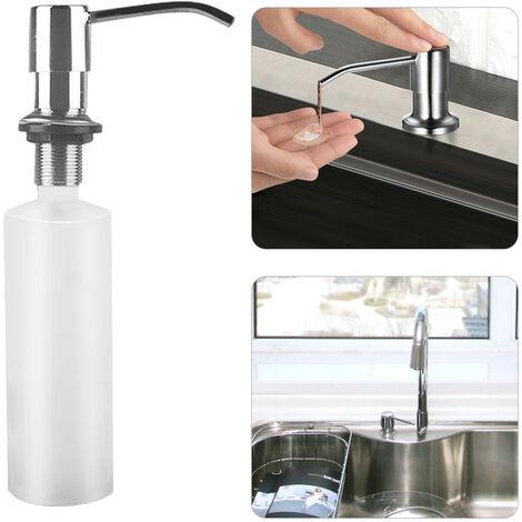 Stainless Steel Kitchen Sink 300ml Soap Dispensers Hand Liquid Pump Bottle Easy Installation