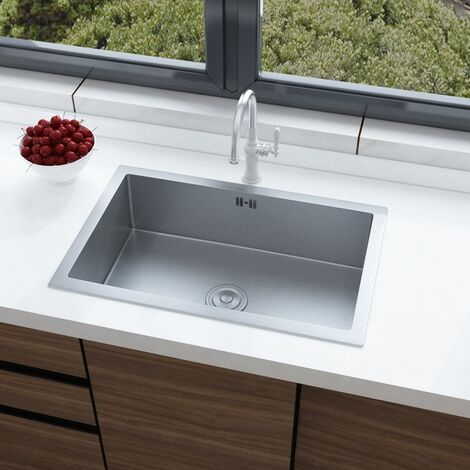 """main image of """"Stainless Steel Kitchen Sink Commercial Catering Single Bowl Drainer Kit"""""""