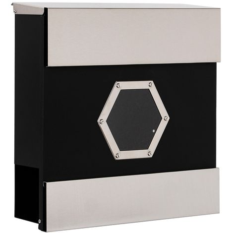 stainless steel letterbox black house letterbox newspaper tube wall letterbox