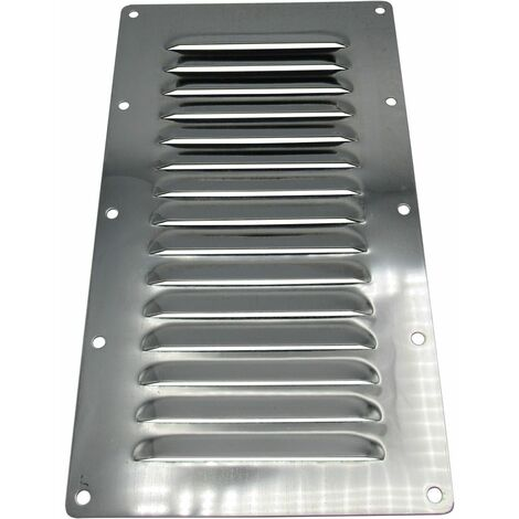 """main image of """"Stainless Steel Louvred Air Vent (225MM x 127MM Rectangular Grille Metal Duct)"""""""