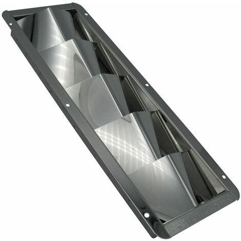 """main image of """"Stainless Steel Louvred Air Vent (326MM x 113MM Rectangular Grille Metal Duct)"""""""