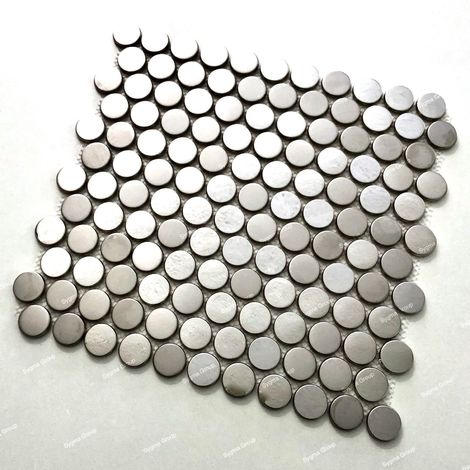 stainless steel mirror effect mosaic tiles for kitchen and bathroom walls BERKO