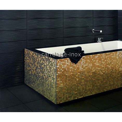 stainless steel mosaic tile for bathroom or kitchen wall Fusion Or