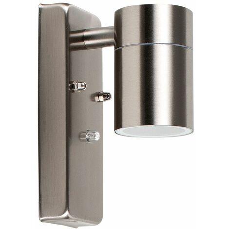 Stainless Steel Outdoor Garden Down Light LED - Dusk Till Dawn Sensor - Silver