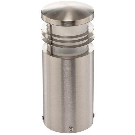Stainless steel pillar lamp Adenika, seawater res.