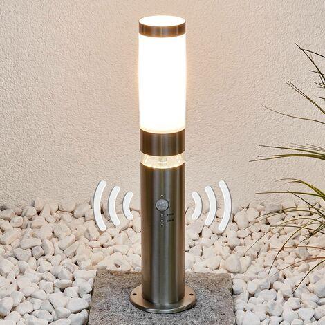 Stainless steel pillar light Binka with sensor