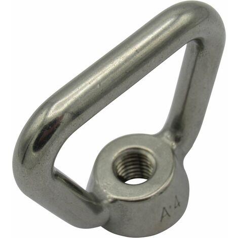 "main image of ""Stainless Steel Rectangular Eye Nut M12 (Rigging Deck Loop Rope)"""