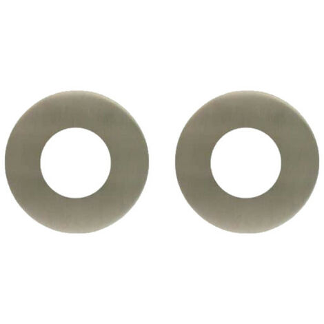Stainless steel rosettes with hole 22 mm Klose Besser x2