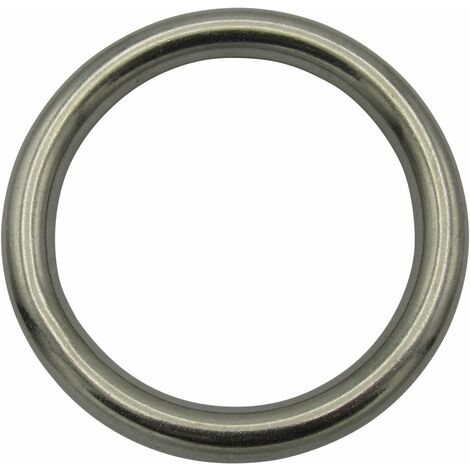 """main image of """"Stainless Steel Round O Ring 5MM x 50MM (Marine Webbing Rigging Mooring Corrosion Resistant)"""""""