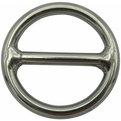 """main image of """"Stainless Steel Round Ring with Centre Bar 8MM x 50MM (O Rigging Webbing Fastening Mooring Dock)"""""""
