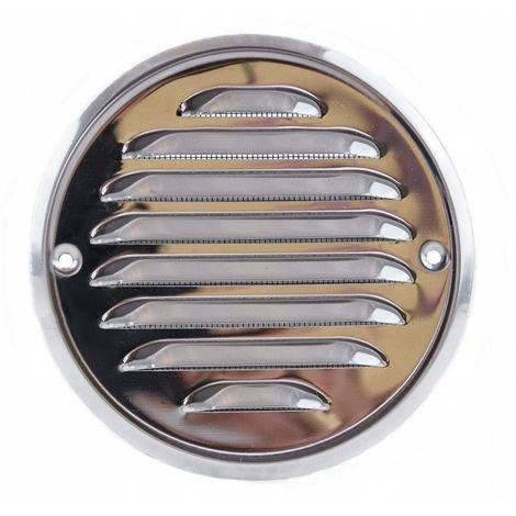 Stainless steel screwed round ventilation grille