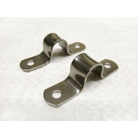 """main image of """"Stainless Steel Sheet Saddle Clips 16MM x2 (Marine Tube Wire Lacing Clamp)"""""""
