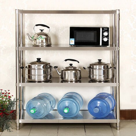 Stainless Steel Shelving 1500mm Heavy Shelf 4 Tier Rack Storage Unit Kitchen Commercial