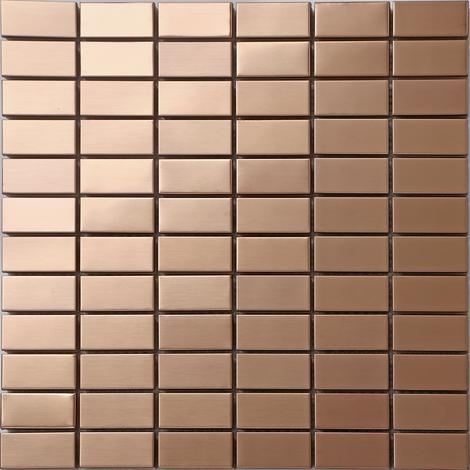 Stainless Steel Shiny Gold Brass Bronze Mosaic Tiles Bathroom MT0105