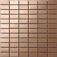 Stainless Steel Shiny Gold Brass Bronze Mosaic Tiles Bathroom MT0105