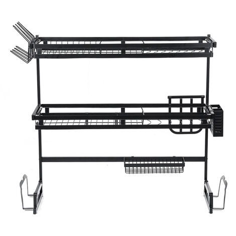 Stainless Steel Sink Drain Rack 65cm Double-layer