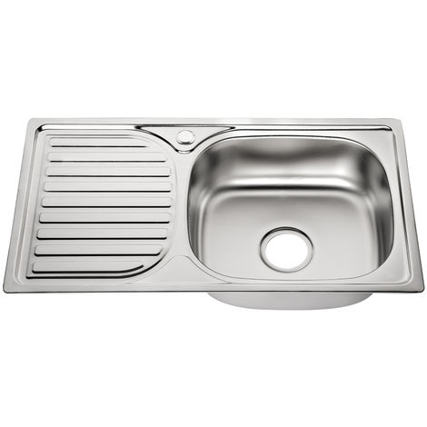 Stainless steel Sink unit Built-in sink Kitchen Sink unit Stainless steel Smooth kitchen