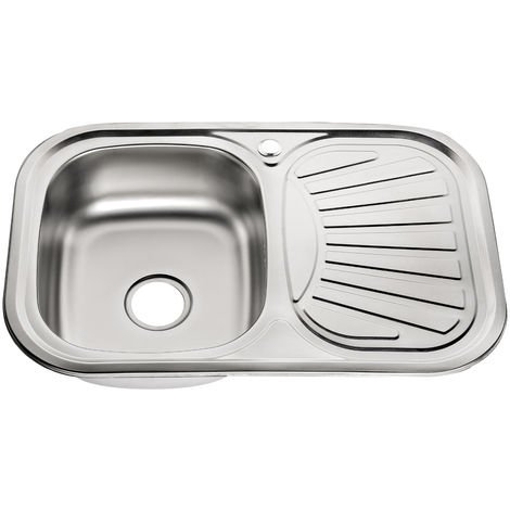 Stainless steel sink unit Built-in sink Square kitchen sink unit Stainless steel Accessories