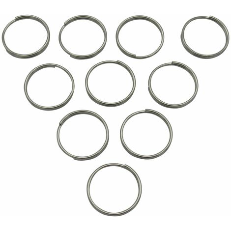 """main image of """"Stainless Steel Split Ring Connectors 1.5MM x 26MM x10 (Key Ring Chain Links)"""""""