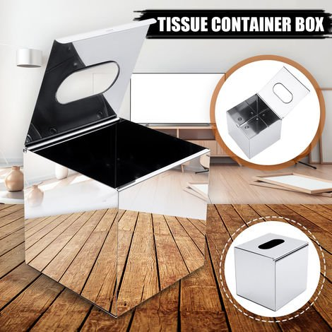 Stainless Steel Square Tissue Box Storage Box For Paper Napkin Holder For Household Bathroom