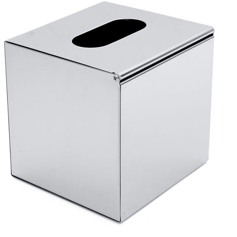Stainless Steel Square Tissue Box Storage Box For Paper Napkin Holder For Household Bathroom Hasaki