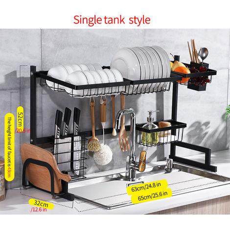 Stainless steel storage sink drainer