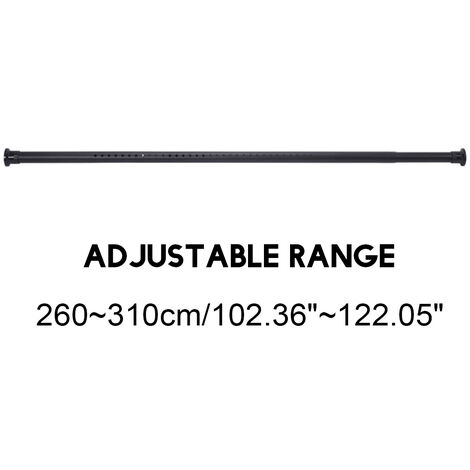 Stainless Steel Telescopic Shower Window Curtain Pole Rod Home Extendable 2.6-3.1M
