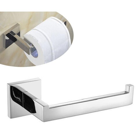 Stainless Steel Toilet Roll Holder Paper Holder Screws Mounting for Bathroom and Kitchen Silver