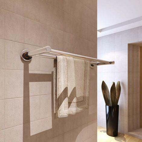 Stainless Steel Towel Rack 2 Tubes