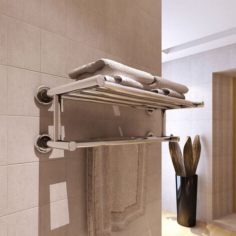 """main image of """"Stainless Steel Towel Rack 6 Tubes - Silver"""""""