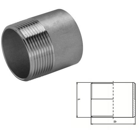 "Stainless Steel Welding Nipple (A2 / T304) 1/2"" BSP"