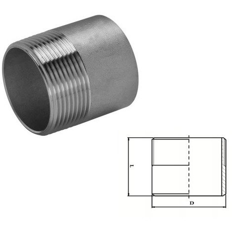 Stainless Steel Welding Nipple (A2 / T304) 3/8 BSP
