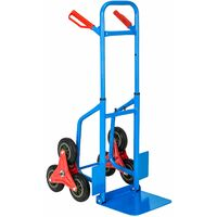 Stair-climbing sack barrow up to 100kg - sack truck, sack trolley, hand truck - blue